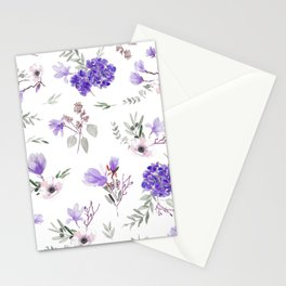 Blue pattern III Stationery Cards