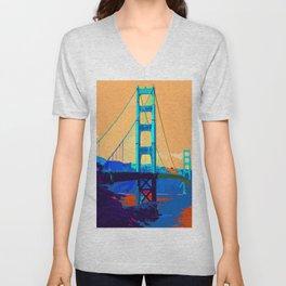 Golden_Gate_Bridge_010 Unisex V-Neck