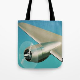 Travel the world - Go by air vintage poster Tote Bag