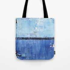 Shiver Abstract Art Blue Modern Water Painting  Tote Bag