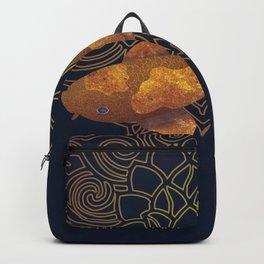 Swimming Koi - Gold Backpack