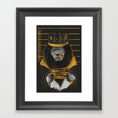 Royal Mugshot Framed Art Print