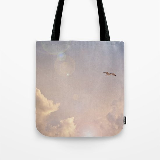 Seagull In the Clouds Tote Bag