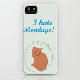 Anchorman 2 - I hate Mondays Minimalist design. Cat iPhone Case