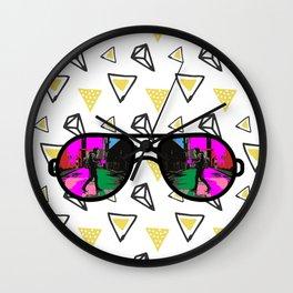 Diamonds and Color Wall Clock
