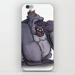 Goofy, Nose-Picking Gorilla iPhone Skin