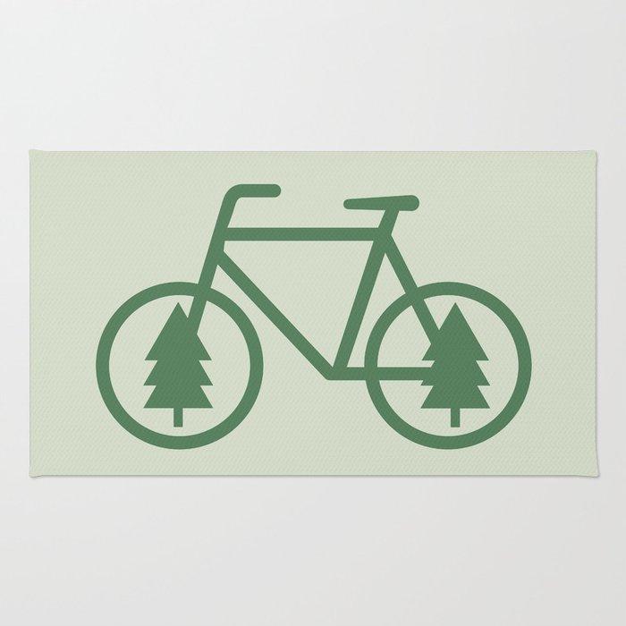 Pacific Northwest Cycling - Bike, Bicycle, Portland, PDX, Seattle, Washington, Oregon, Portlandia Rug