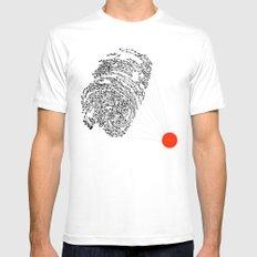 the Fingerprint MEDIUM Mens Fitted Tee White