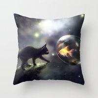 the thing Throw Pillows featuring mutual thing by apofiss
