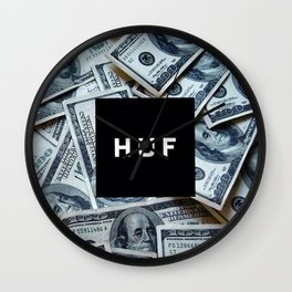 HUF casth money dollar dolar new art 2018 swag hot cover case skin iphone Wall Clock