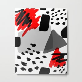 Red, White and Black Metal Print