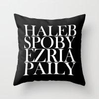 ships Throw Pillows featuring PLL SHIPS by Sara Eshak