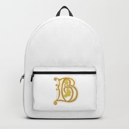 Initial letter B  Backpack