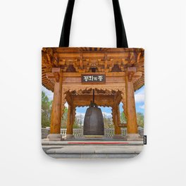 Korean Bell Building Tote Bag