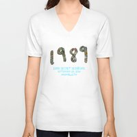 1989 V-neck T-shirts featuring 1989 Secret Sessions Anniversary by Alexander Studios