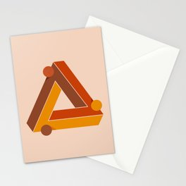 Abstraction_TRIANGLE_ILLUSION_Minimalism_001 Stationery Cards