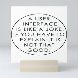 Programmer - UI / UX Designer Mini Art Print