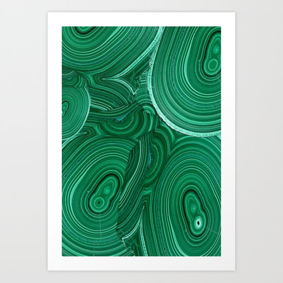 Green Malachite Nature Pattern Design Abstract Art Print