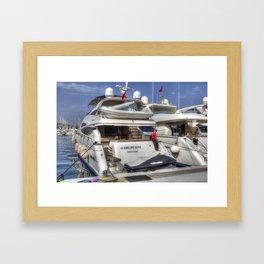 Sunseeker 78 Yacht Framed Art Print