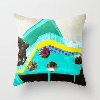 bauhaus Throw Pillows featuring BauHaus 2 by Marko Köppe