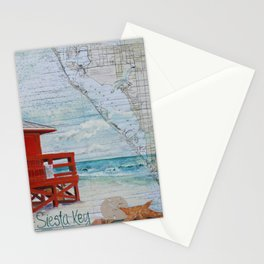 Red Life Guard Stand Stationery Cards