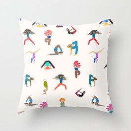 yoga lovers Throw Pillow
