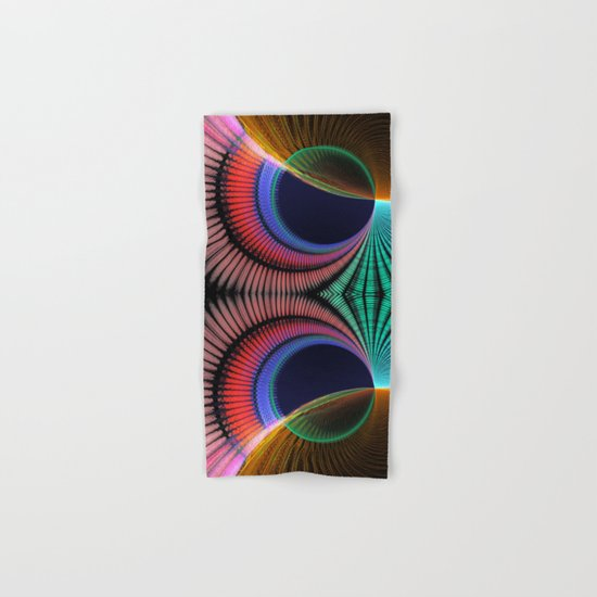 Groovy textured colourful abstract Hand & Bath Towel