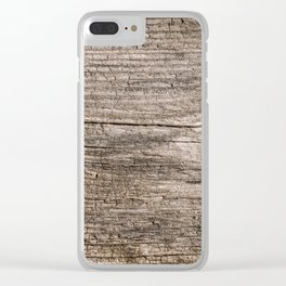 The old boards . Wood . Clear iPhone Case