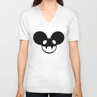 deadmau5 V-neck T-shirts featuring deadmau5 by Torches
