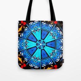 Inspirational Abstract Mandala Tote Bag