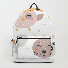 Woodland Critters Pattern Backpack