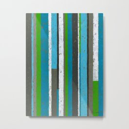 Weathered Stripe Metal Print