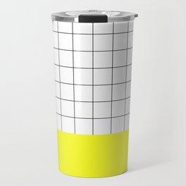 Scandi Grid Sq Y Travel Mug