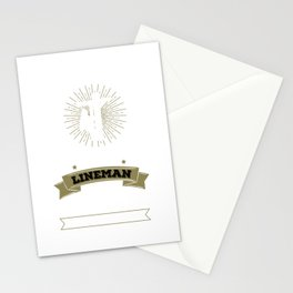 Never Dreamed I'd Be Grumpy Lineman Construction Stationery Cards
