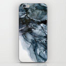 Dark Payne's Grey Flowing Abstract Painting iPhone Skin