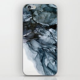 Dark Payne's Grey Flowing Abstract Painting iPhone Skin
