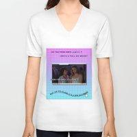 clueless V-neck T-shirts featuring Clueless x Monet by Lisa-Roxane Lion