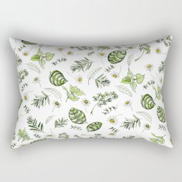 Scattered Garden Herbs Rectangular Pillow