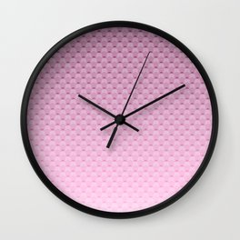 Lilac geometric pattern Wall Clock