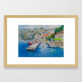 Montenegro coastline Framed Art Print