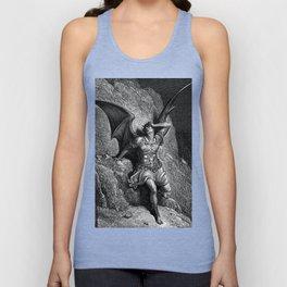 Gustave Dore - Paradise Lost Satan Profile Unisex Tank Top