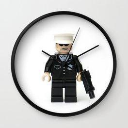 Old school cop Minifig Wall Clock