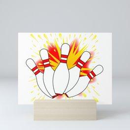 Ten Pin Comic Blast Mini Art Print