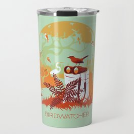 Birdwatcher (reds) Travel Mug