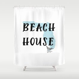 Beach House Decor Shower Curtain