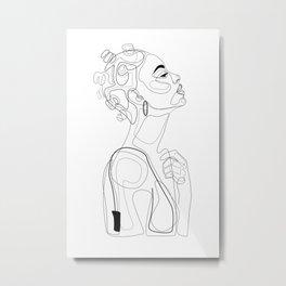 Bantu Beauty BW Metal Print