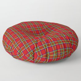 Tartan Classic Style Red and Green Plaid Floor Pillow