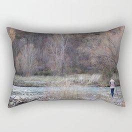 Exploring the Historic Arrowtown During Autumn Rectangular Pillow