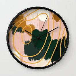 Abstract in mangosteen Wall Clock