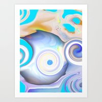 calendars Art Prints featuring Time by Geni